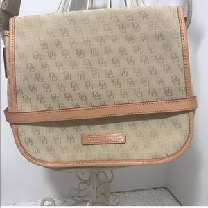 Authentic Dooney & Bourke Logo Crossbody Tan